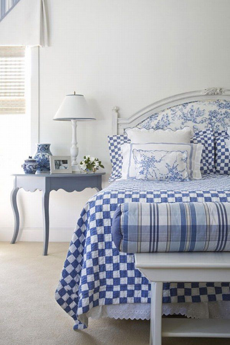 blue and white bedrooms photo - 1