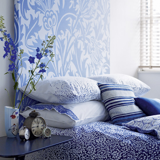 blue and white bedrooms photo - 2