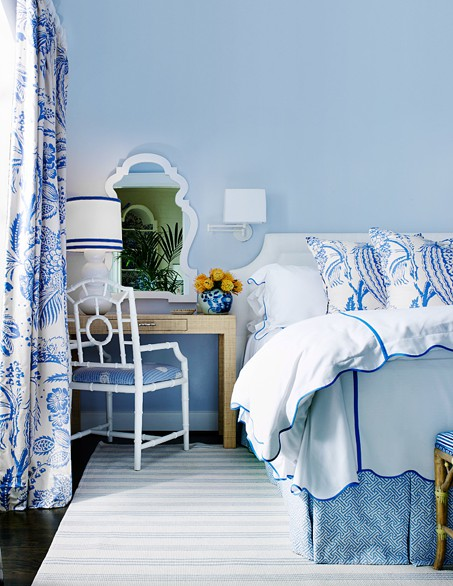 blue and white bedrooms photo - 3
