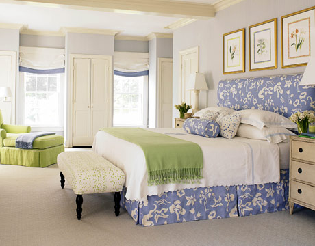 blue and white bedrooms designs photo - 5