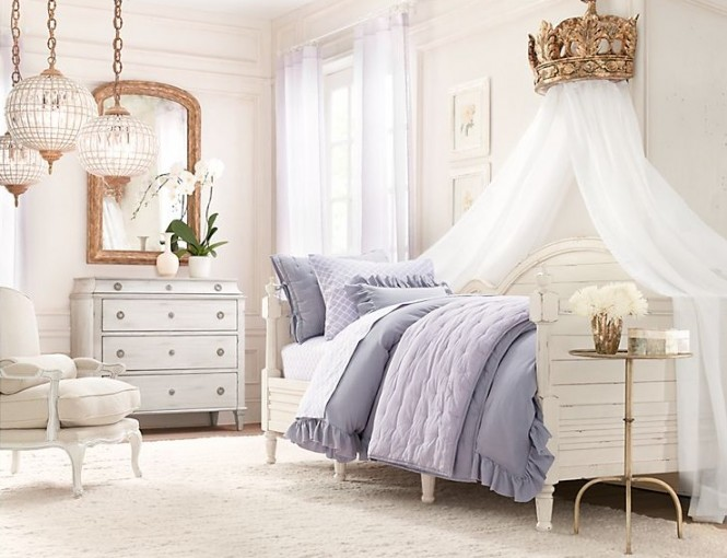 blue and white bedrooms for girls photo - 1