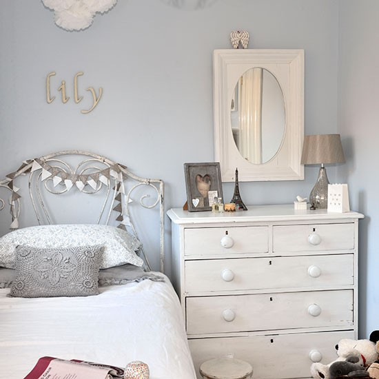 blue and white bedrooms for girls photo - 2