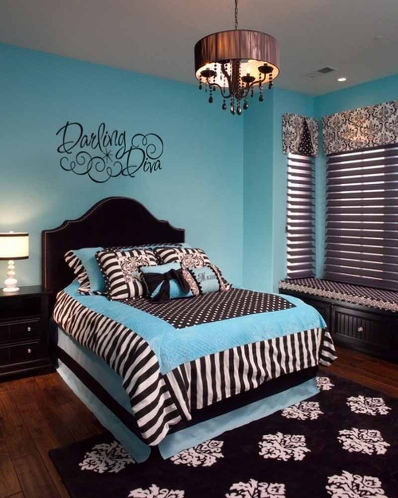 blue and white bedrooms for girls photo - 4