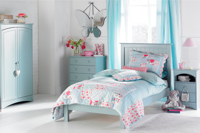 blue and white bedrooms for girls photo - 6