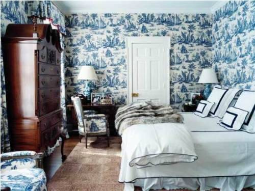 blue and white french country bedroom photo   2. Blue and white french country bedroom   Interior   Exterior Doors