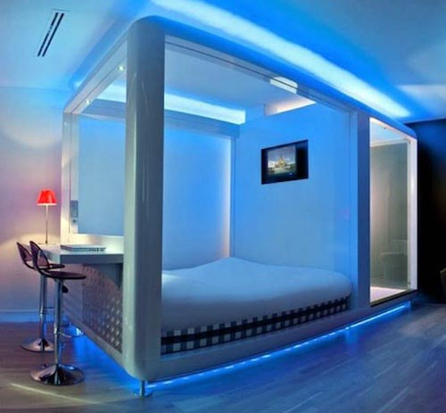 blue black bedroom designs photo  6 Blue Interior Exterior Doors