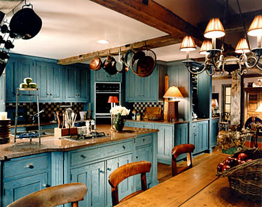 Blue Country Kitchen Designs