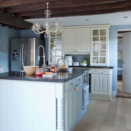 Blue Country Kitchen Designs Interior Exterior Doors