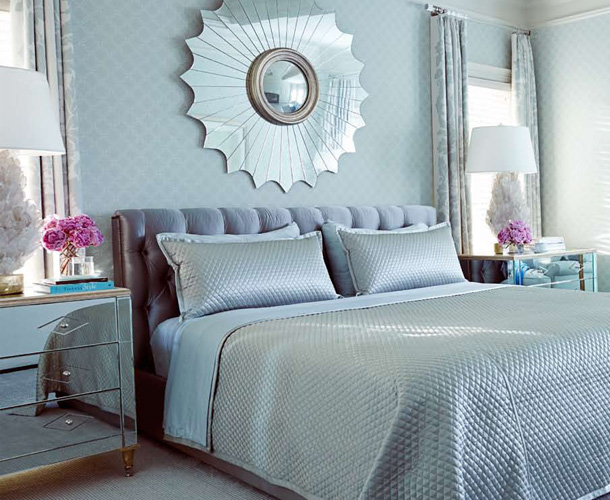 blue grey bedroom decorating ideas photo - 5