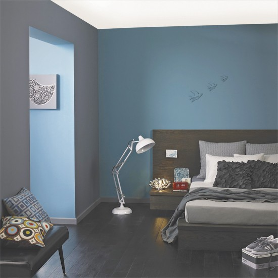 blue grey bedroom decorating ideas photo - 6