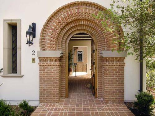 brick front entrance designs photo - 2