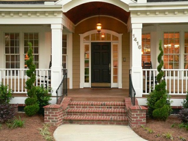 brick front entrance designs photo - 3