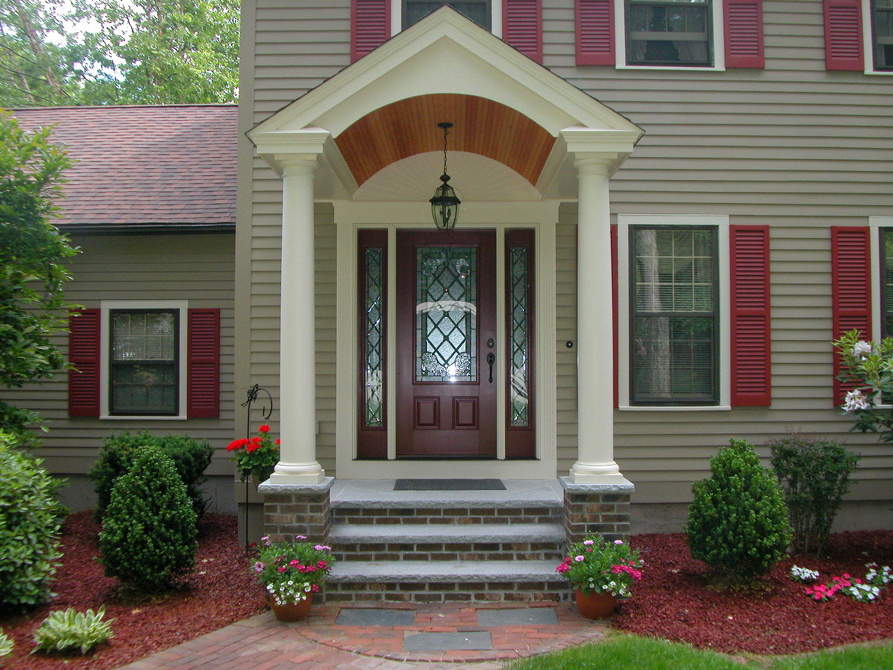 brick front entrance designs photo - 4