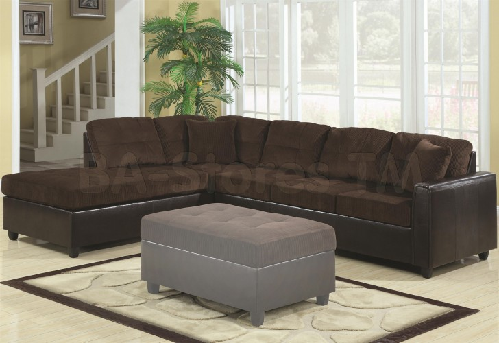 brown sofa black coffee table photo - 2