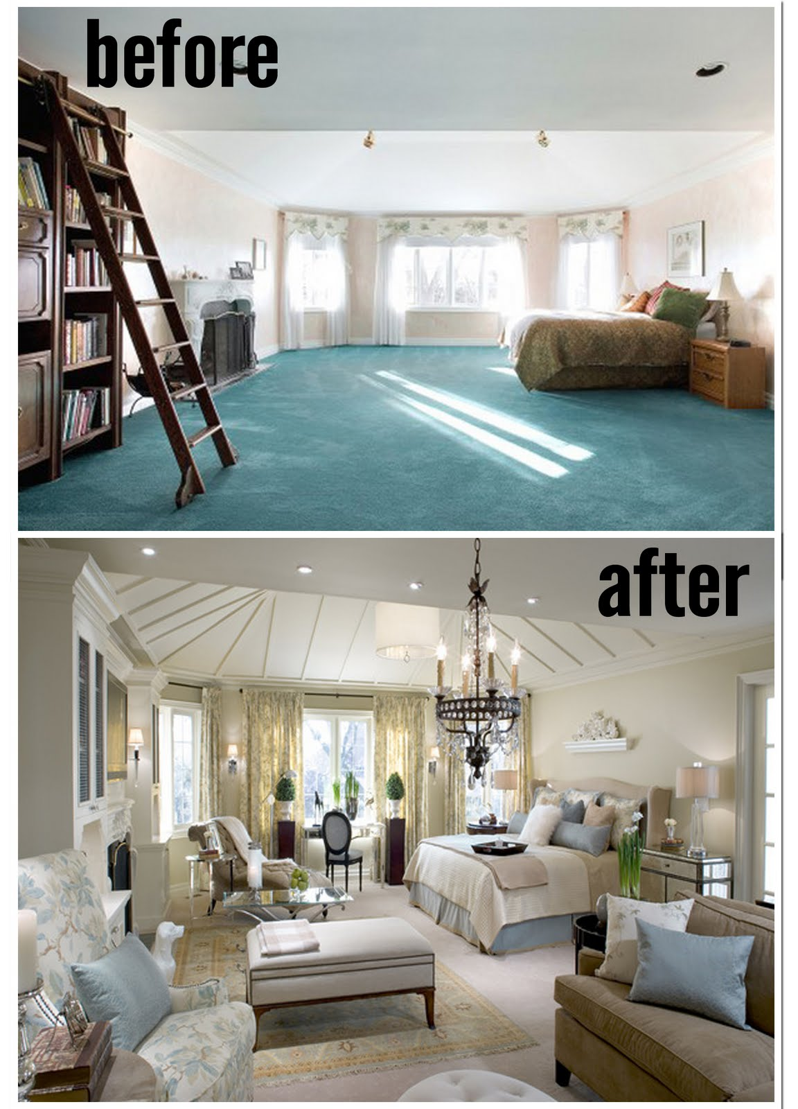 candice olson designs before and after photo - 1