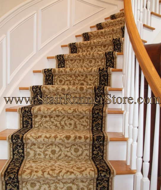 carpet runner for stairs installation photo - 1