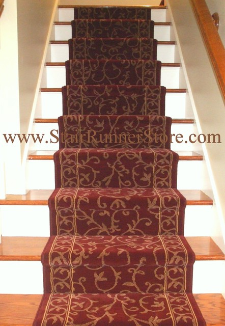carpet runner for stairs installation photo - 4