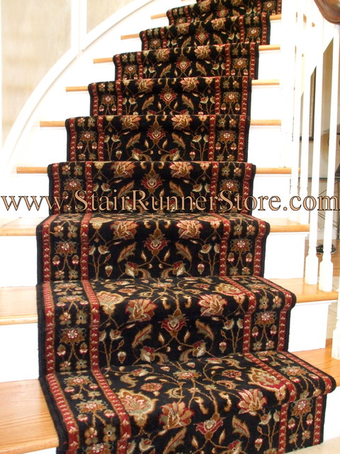 carpet runner for stairs installation photo - 5