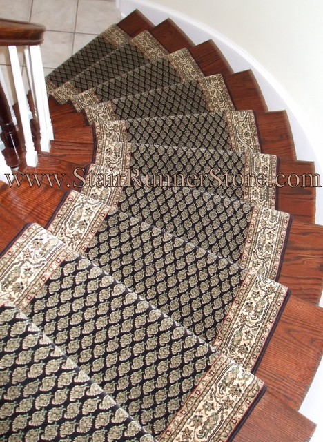 carpet runner for stairs installation photo - 6