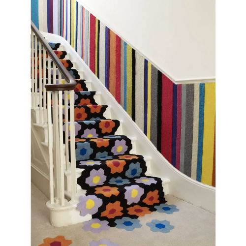 carpet runners for stairs modern photo - 2