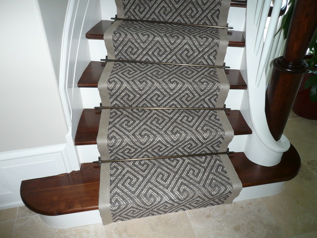 carpet runners for stairs modern photo - 4