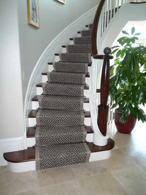 carpet runners for stairs modern photo - 5