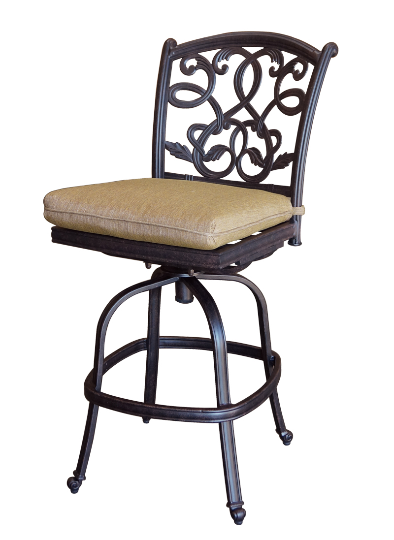 cast aluminum bar stools photo - 1