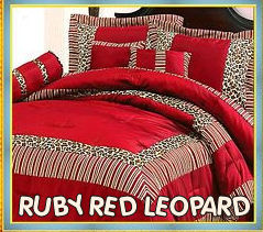 cheetah print and red bedroom photo - 2