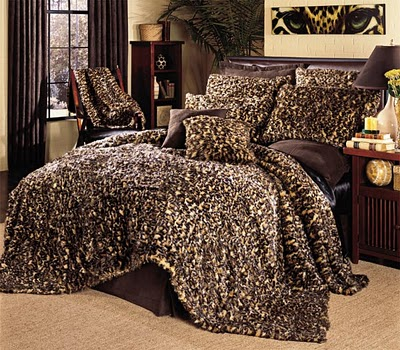 cheetah print bedroom decor photo - 2