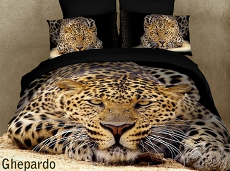 cheetah print bedroom set photo - 2