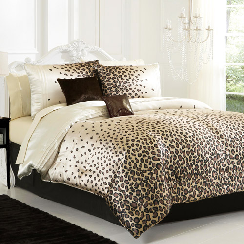 cheetah print bedroom set photo - 3