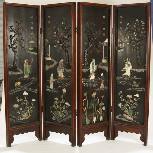 chinese room dividers antique photo - 1