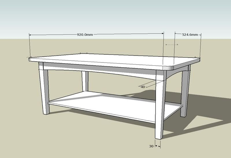 coffee table design plan photo - 1