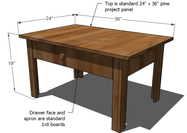 coffee table design plan photo - 2