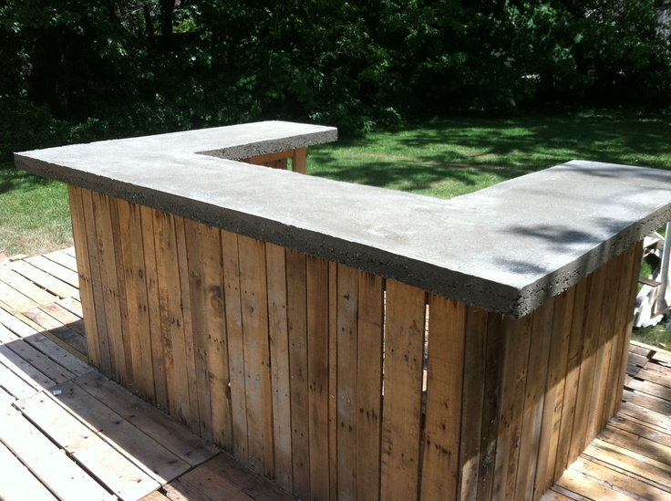 concrete outdoor bar designs photo - 1
