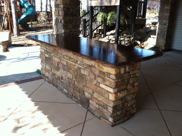 concrete outdoor bar designs photo - 3