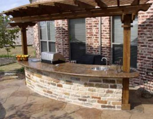concrete outdoor bar designs photo - 4