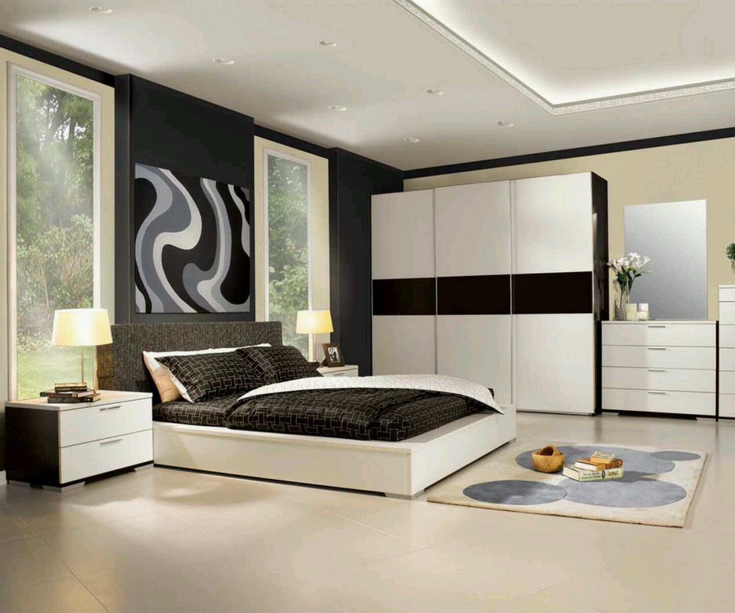 contemporary bedroom furniture designs photo - 2