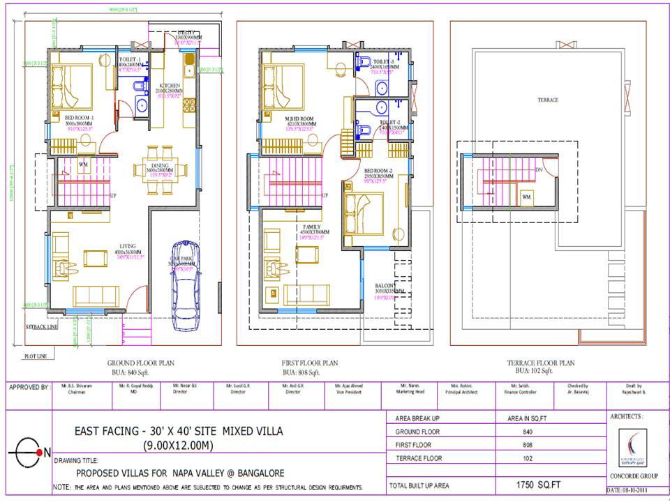 30 x 40 house plans pdf for House plans for 30x40 site