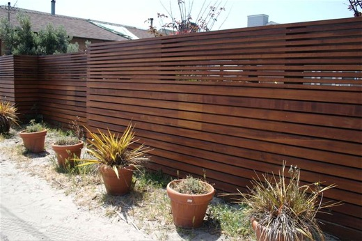 contemporary garden fencing ideas photo - 1