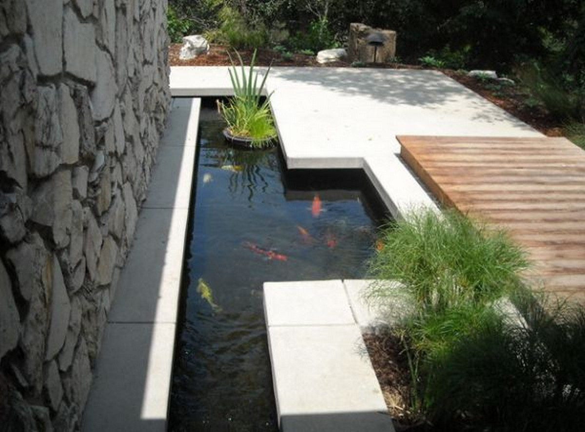 contemporary garden pond ideas photo - 2