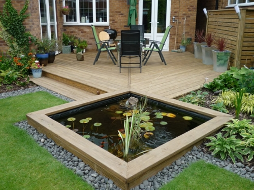 contemporary garden pond ideas photo - 3
