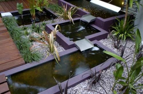 contemporary garden pond ideas photo - 6