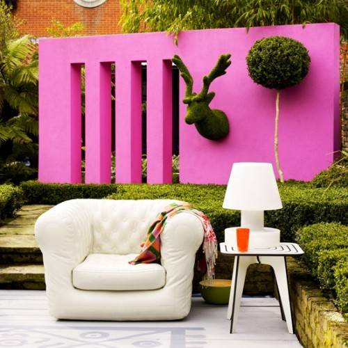 contemporary garden wall ideas photo - 3