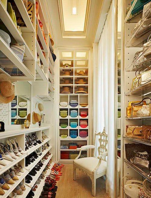contemporary walk in closet design photo - 3