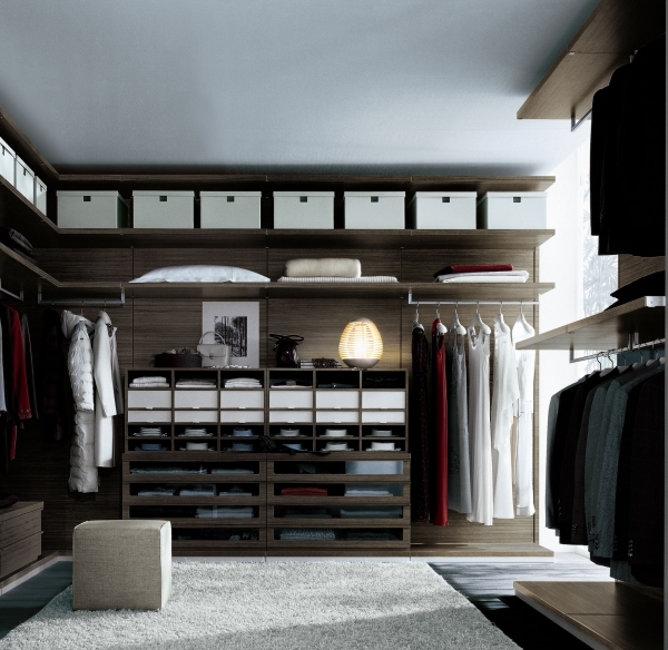 contemporary walk in closet design photo - 4