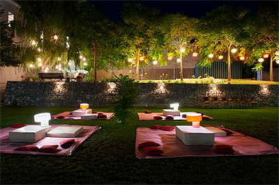 cool outdoor party lights photo - 2