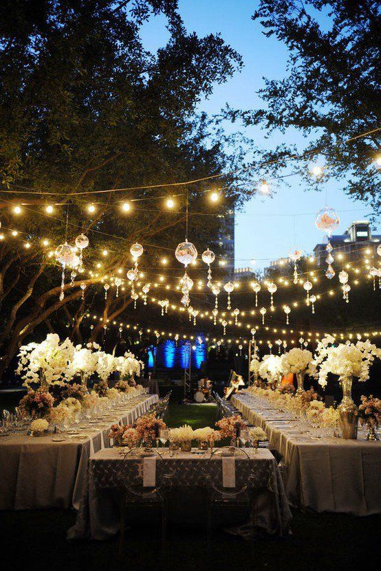 cool outdoor party lights photo - 3