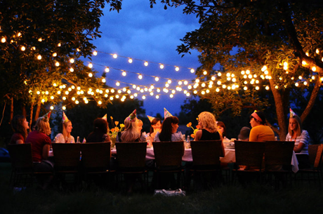 cool outdoor party lights photo - 6