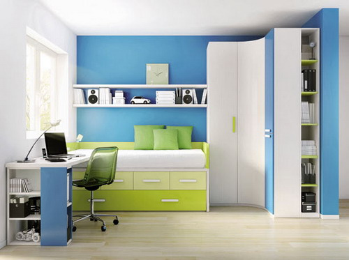 Corner bedroom furniture for kids